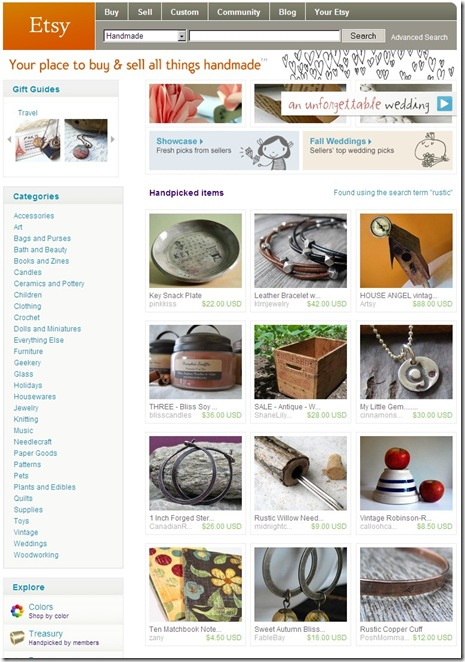 Etsy Front Page Rustic 1inch Hoops Sept 7